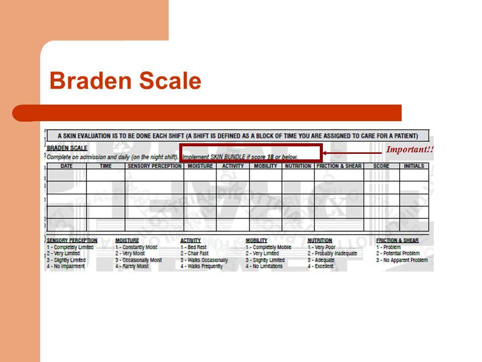 Braden Scale Important!!