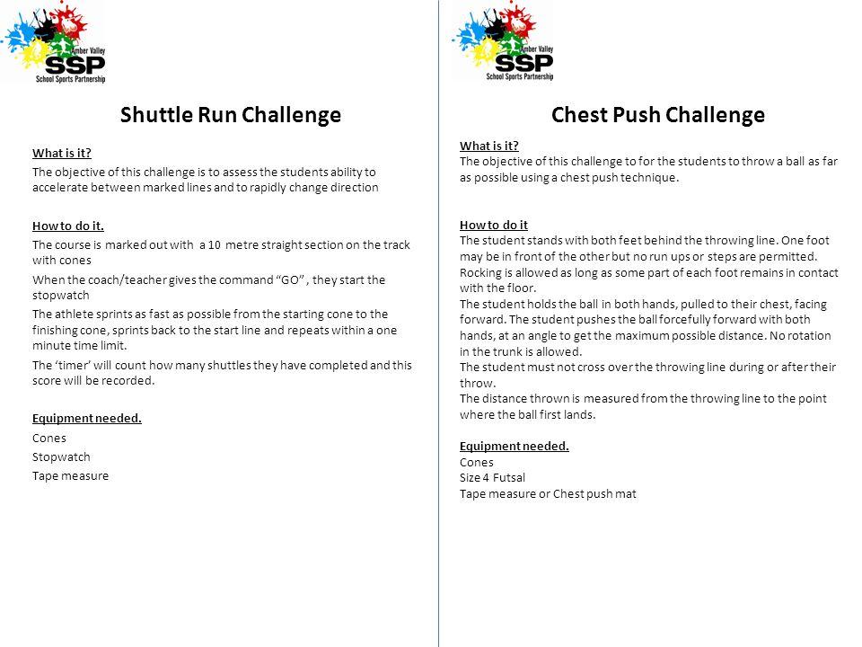 Shuttle Run Challenge What is it.