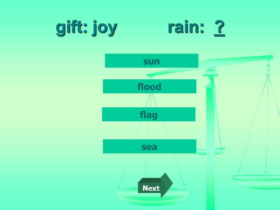 gift: joyrain: sun flood flag sea Next