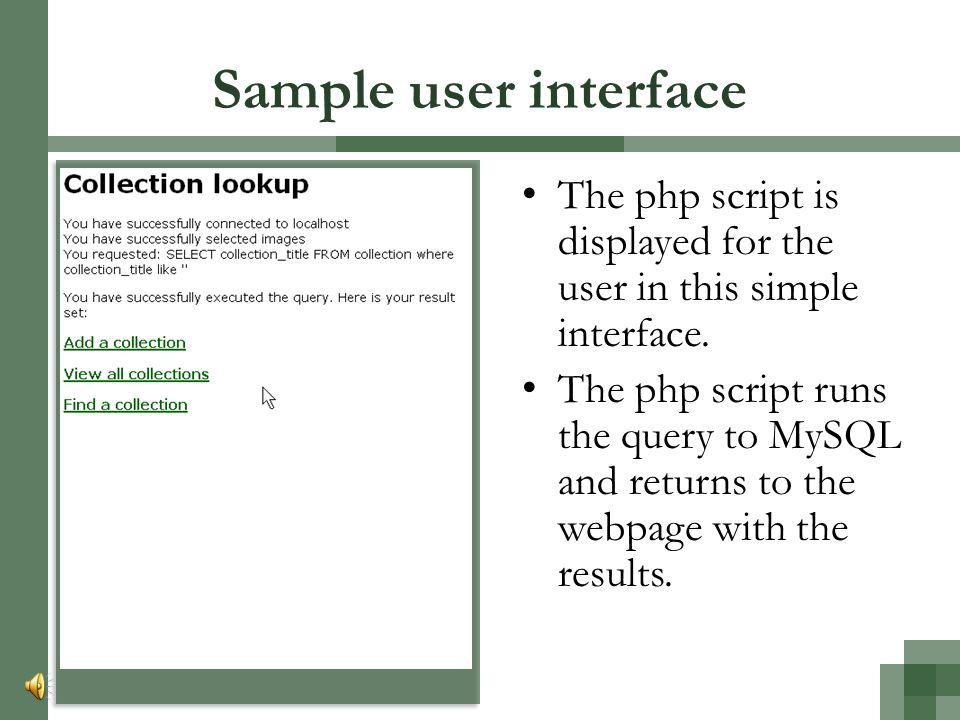 Sample php script