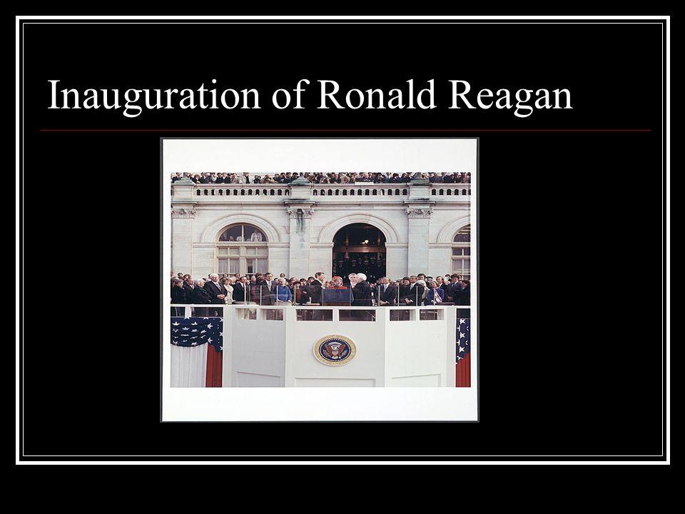 Inauguration of Ronald Reagan