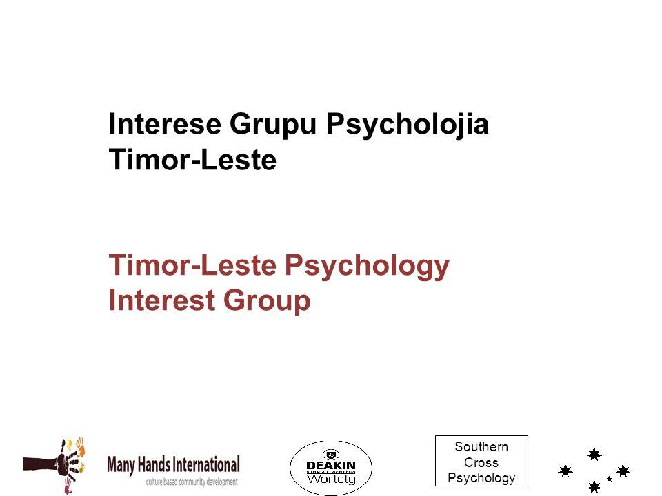 Interese Grupu Psycholojia Timor-Leste Timor-Leste Psychology Interest Group