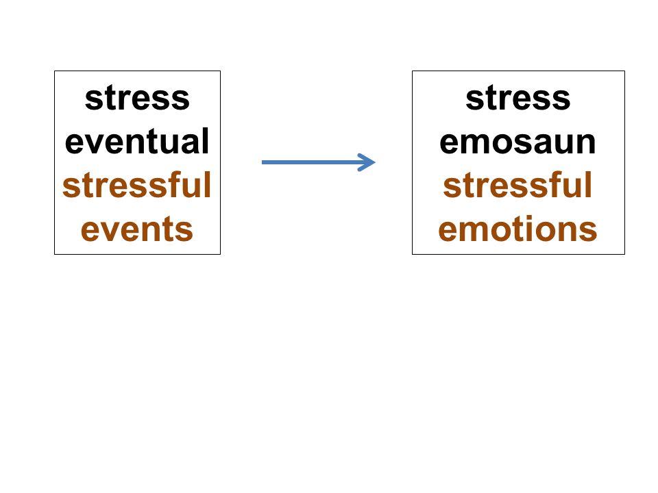 stress eventual stressful events stress emosaun stressful emotions