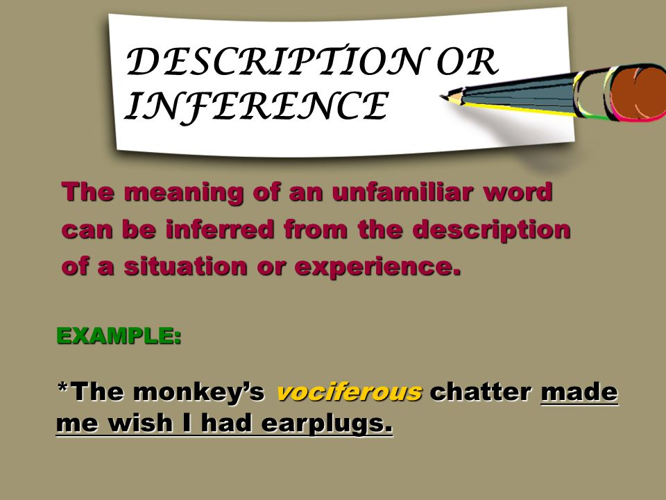 CAUSE AND EFFECT CAUSE AND EFFECT The meaning of an unfamiliar word The meaning of an unfamiliar word is signaled by a cause-and-effect is signaled by