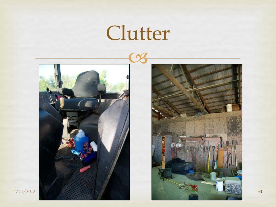  Clutter 4/11/201233