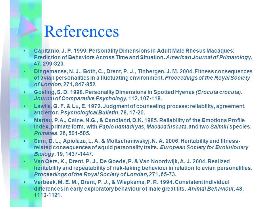 References Capitanio, J. P. 1999.
