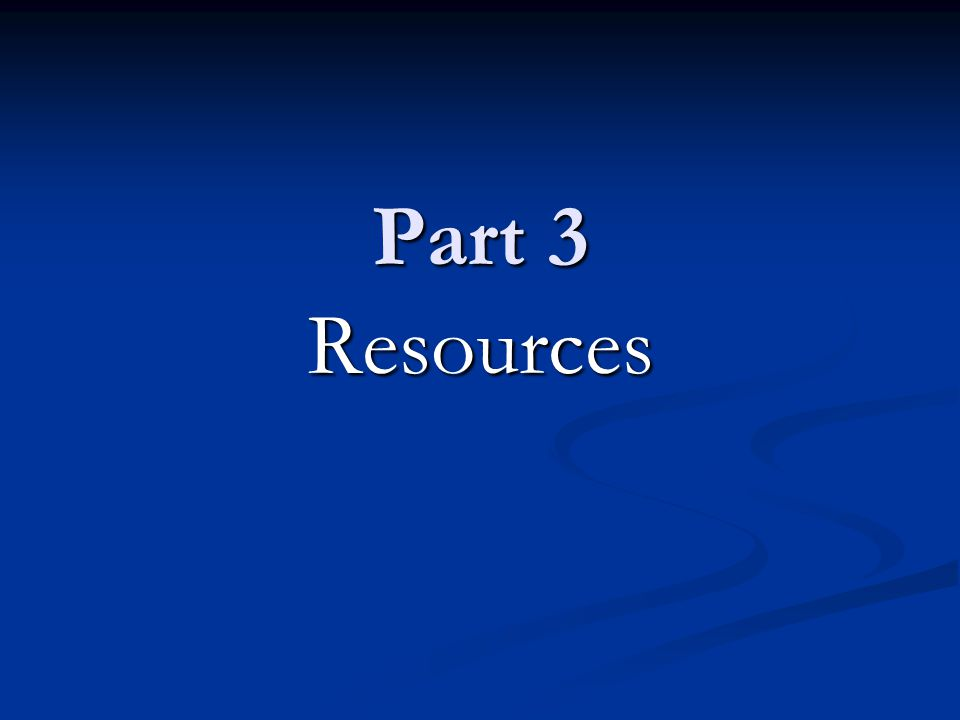 Part 3 Resources