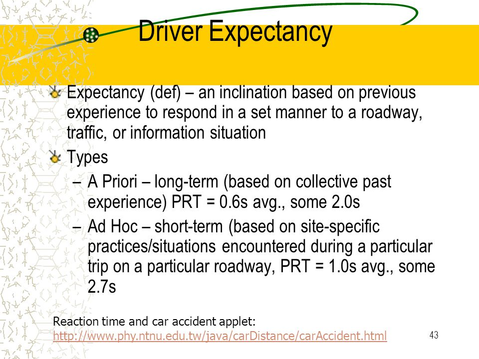 42 Driver Expectancy
