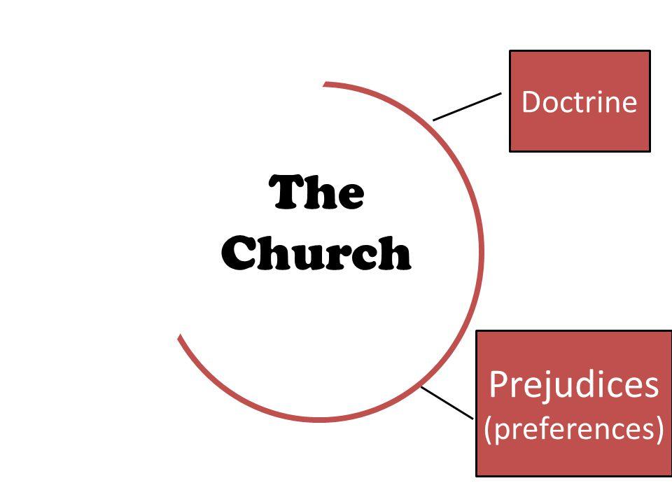 Prejudices (preferences) Doctrine The Church