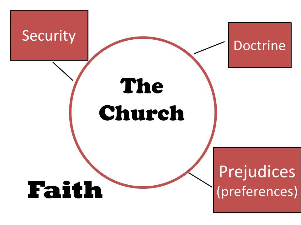 Doctrine Security The Church Faith Prejudices (preferences)