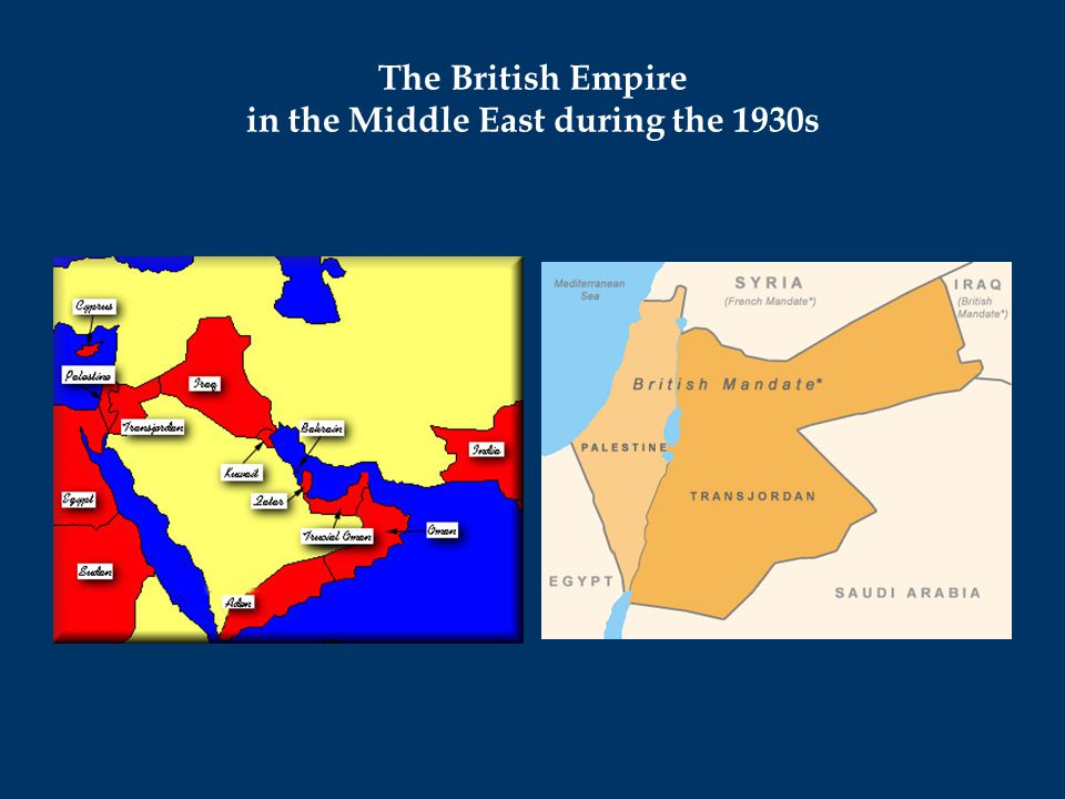 The British Empire in the Middle East during the 1930s