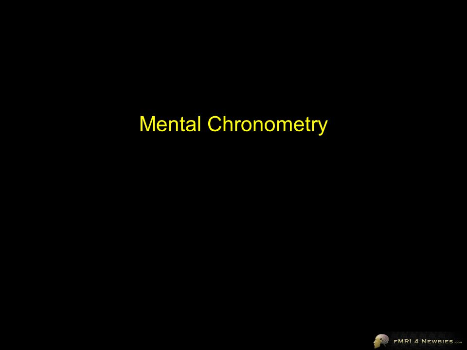 Mental Chronometry