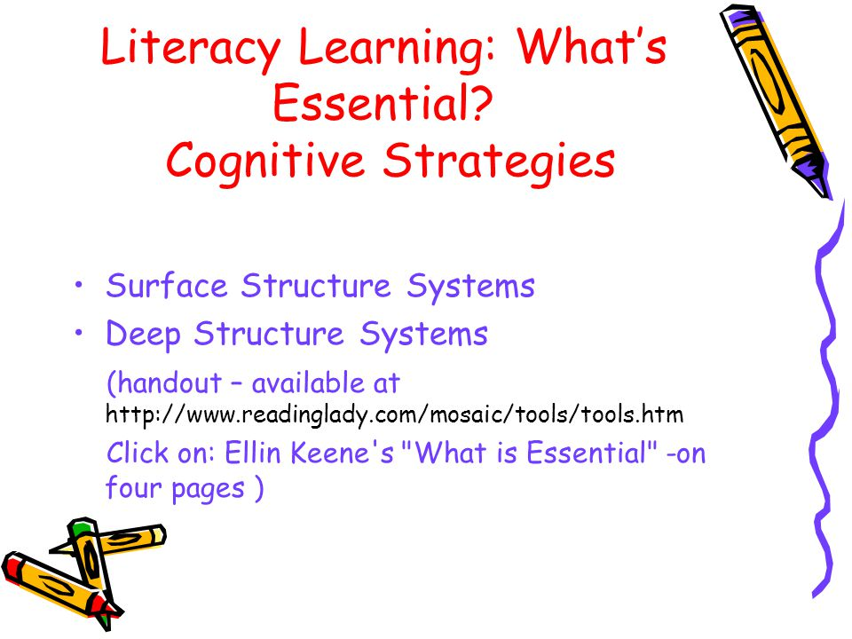 Literacy Learning: What's Essential.