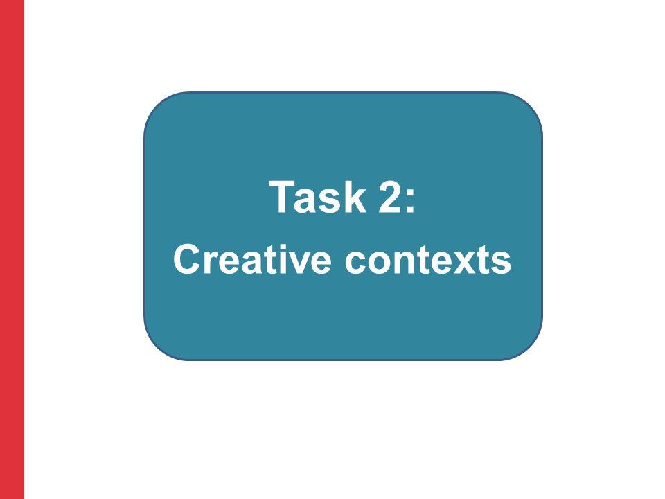 Task 2: Creative contexts