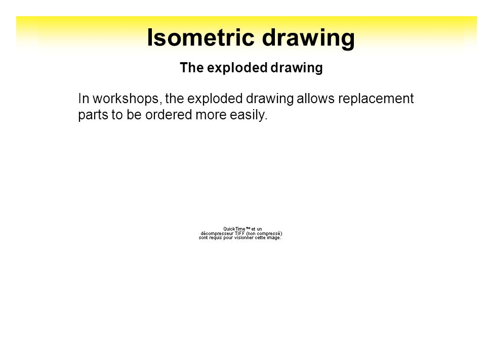 The exploded drawing is used to identify components of a whole, the method and order of parts assembly. Isometric drawing 14 2 1 3 4 5 6 7 8 9 10 11 1