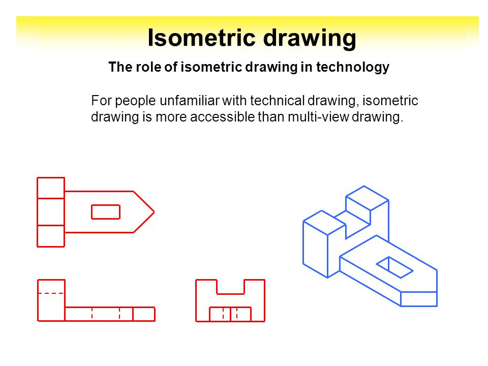 Isometric drawing is used to represent a technical object in perspective, in the simplest way.