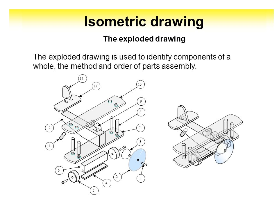 Isometric drawing This form of drawing simplifies communication between the originator and his client.