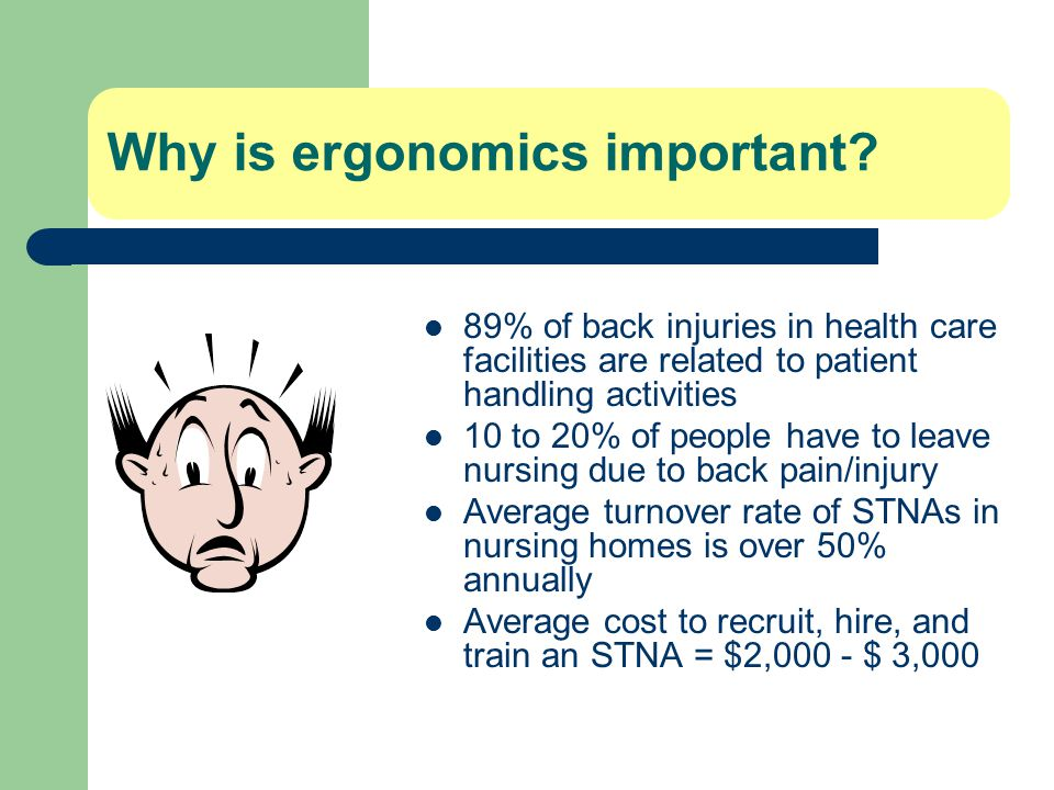 Why is ergonomics important.