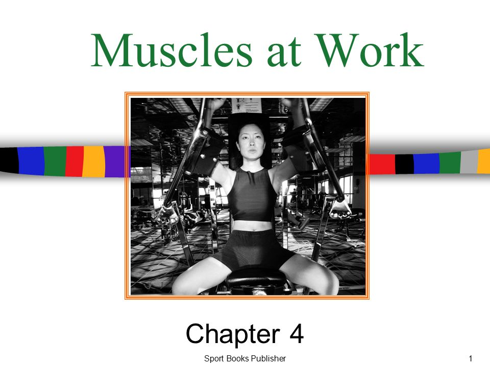 Sport Books Publisher1 Muscles at Work Chapter 4