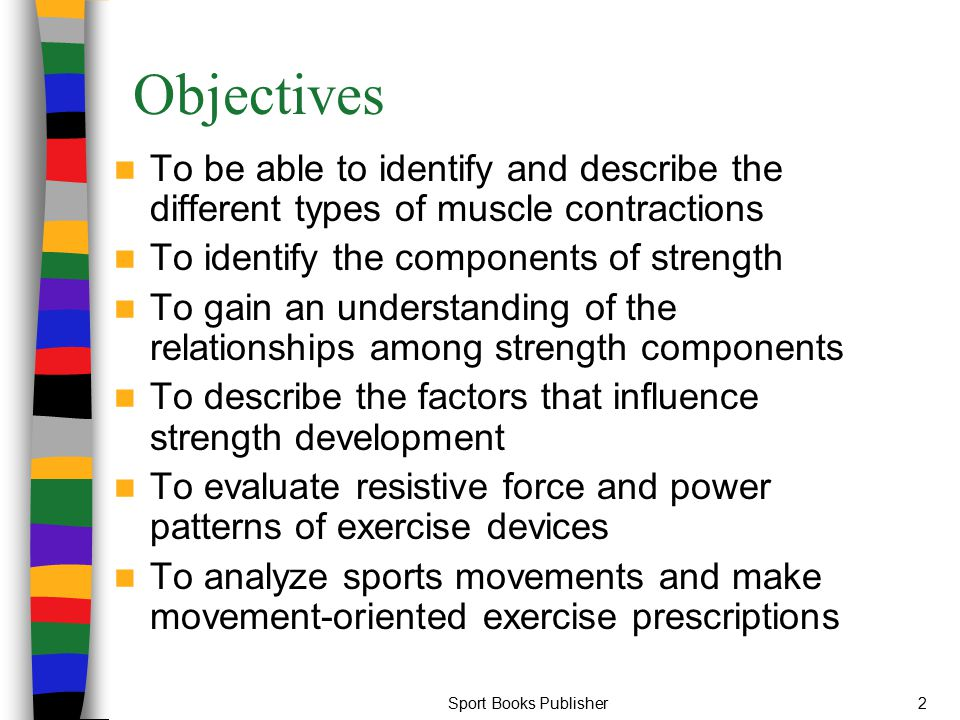 Sport Books Publisher13 Static Contraction Most sports require low to sub- maximal static contraction Examples of sports that require this type of contraction include sail-boarding, alpine skiing, and shooting events