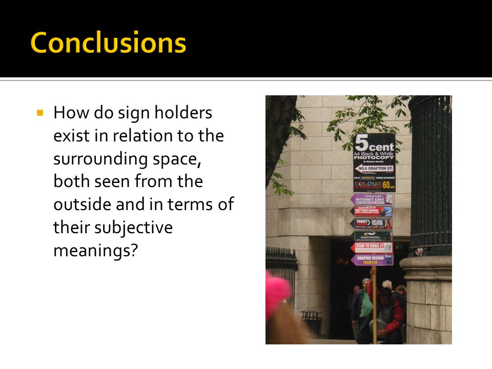  How do sign holders exist in relation to the surrounding space, both seen from the outside and in terms of their subjective meanings