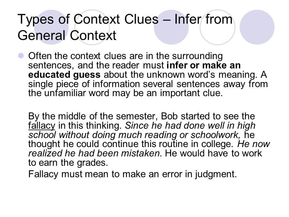No Context Clues.Not all sentences or text contain context clues.