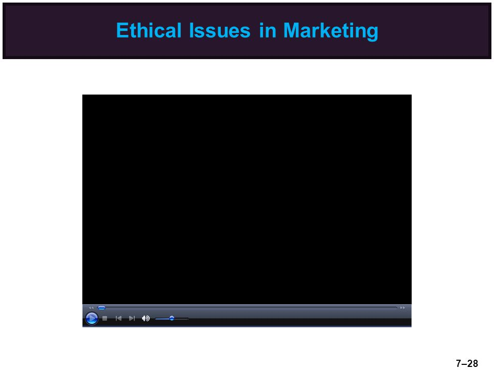 Ethical Issues in Marketing 7–28