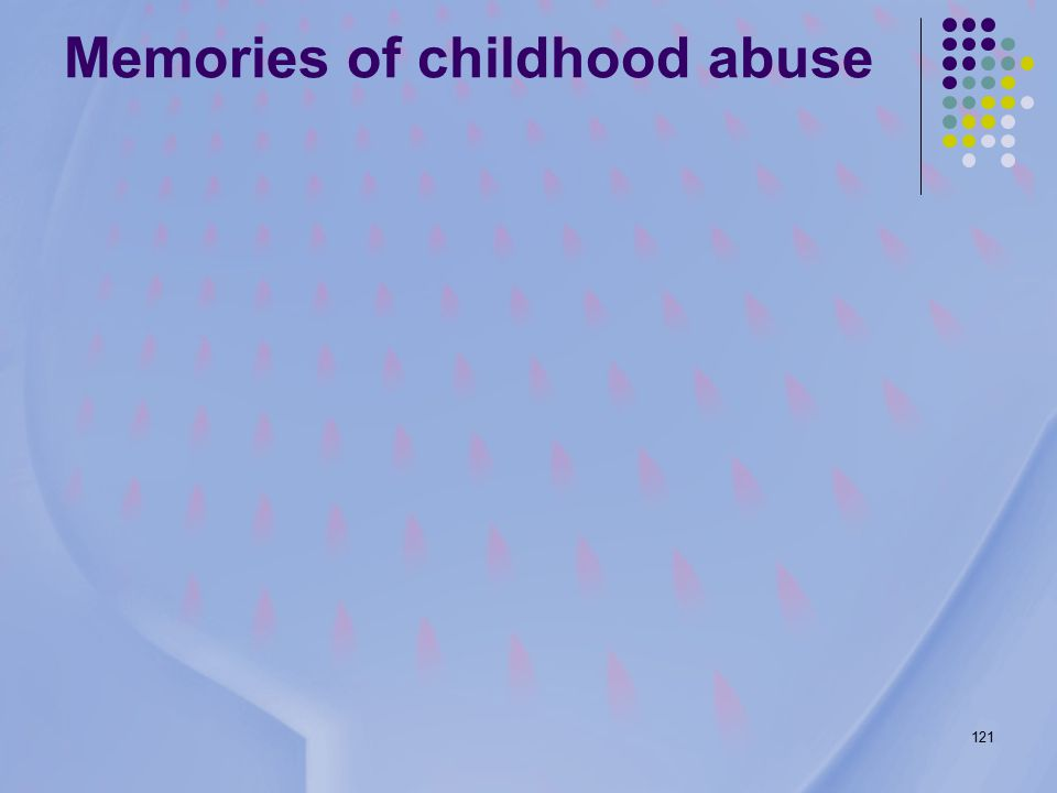 121 Memories of childhood abuse