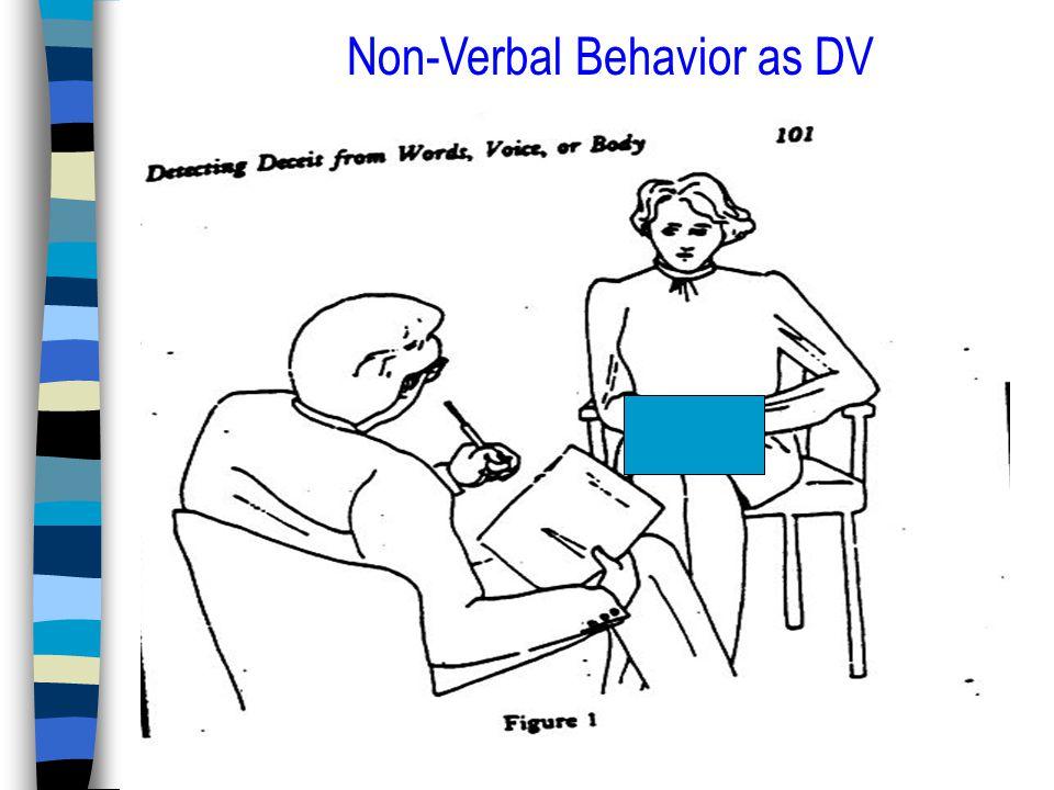 Non-Verbal Behavior as DV