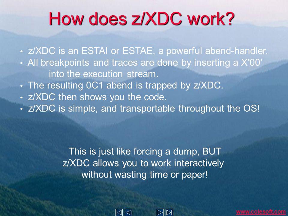 How does z/XDC help.