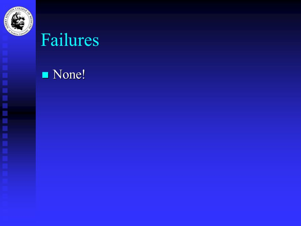 Failures None! None!