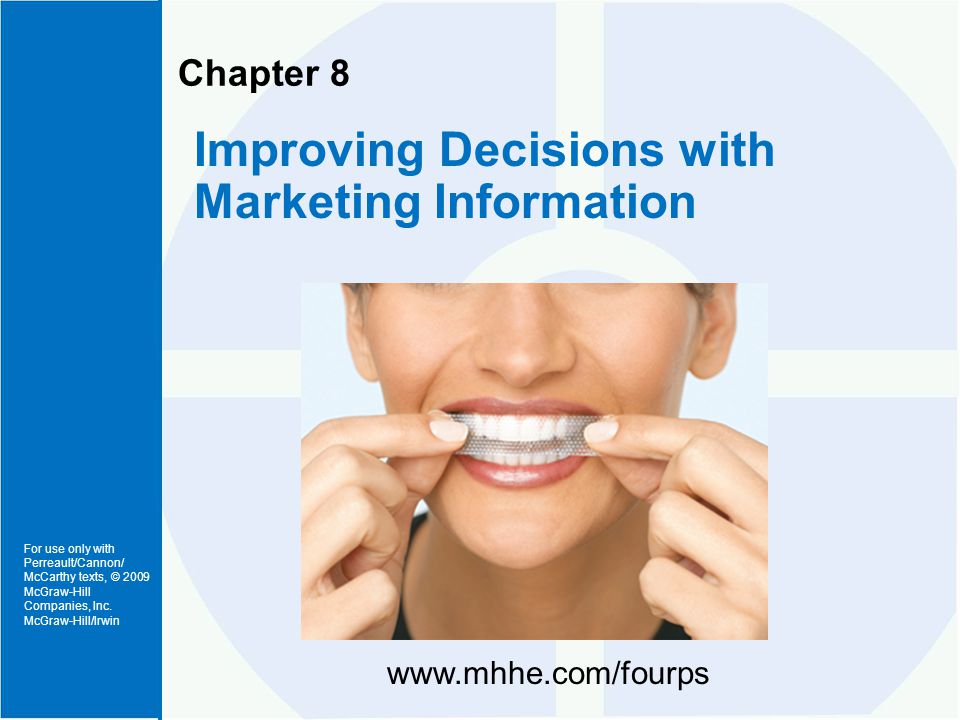 Marketing Information Inputs to Marketing Strategy Planning Decisions (Exhibit 8-1)