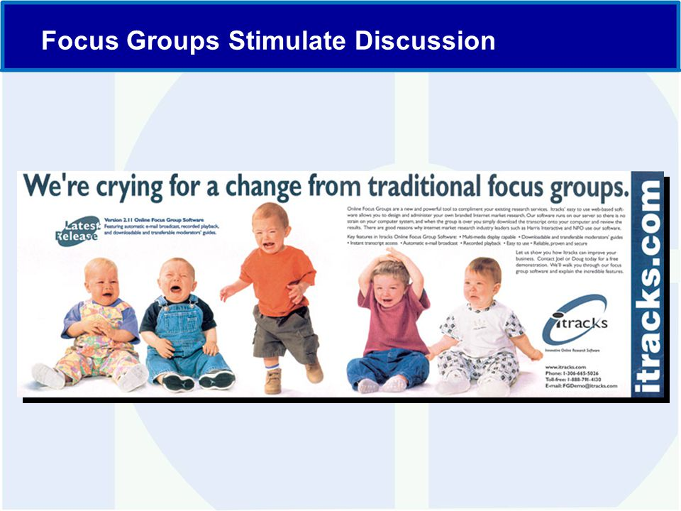 Focus Groups Stimulate Discussion