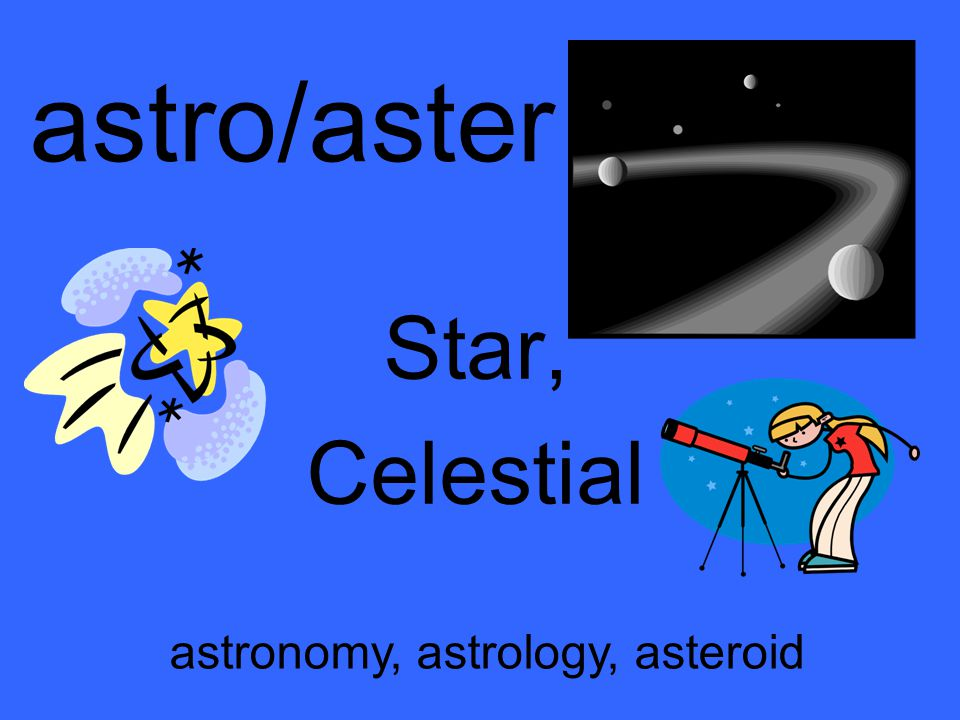 astro/aster Star, Celestial astronomy, astrology, asteroid