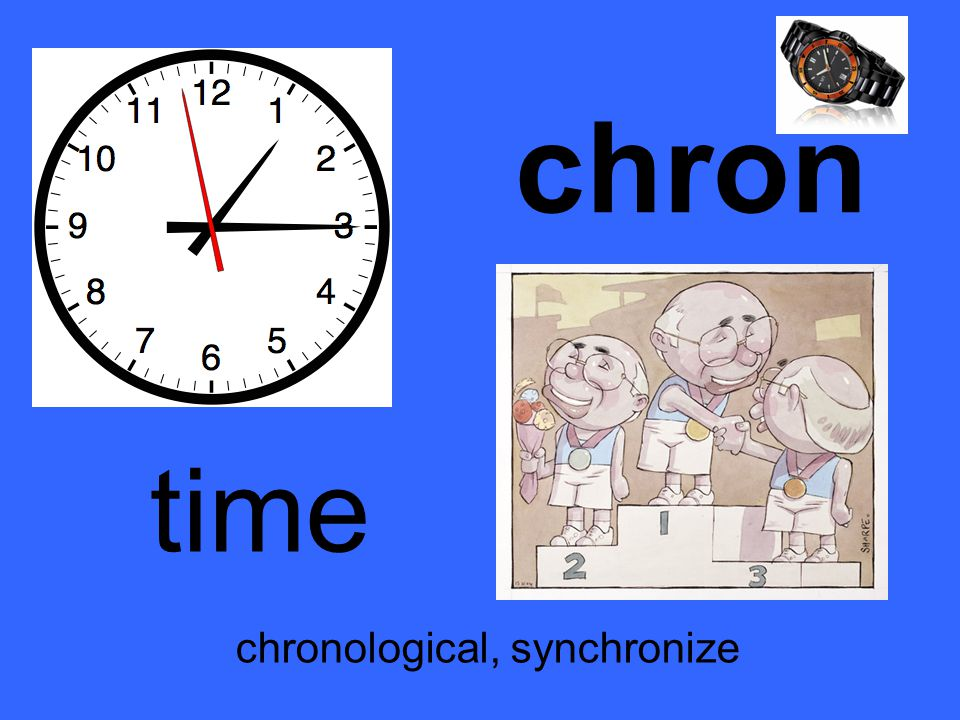 chron time chronological, synchronize