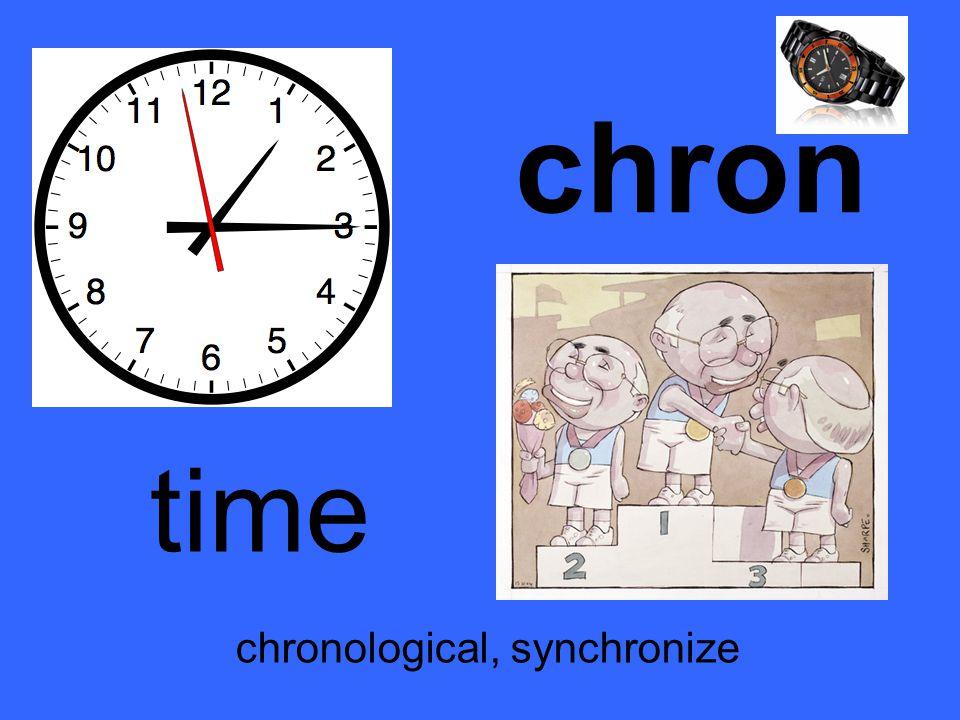 chron time chronological, synchronize