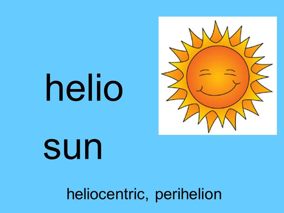 helio sun heliocentric, perihelion