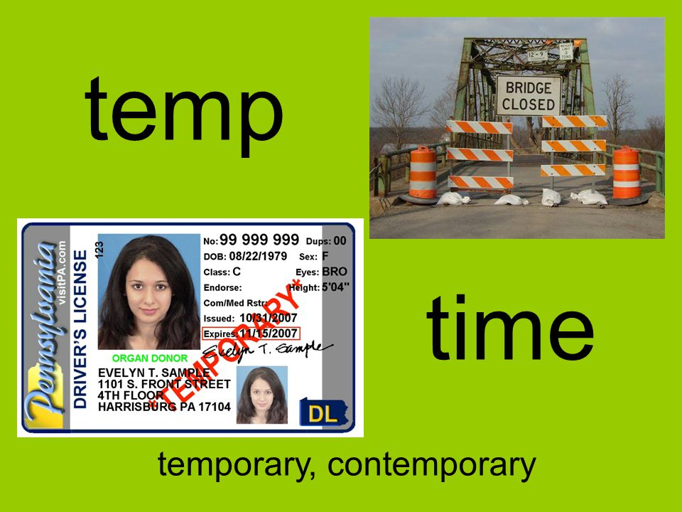 temp time temporary, contemporary