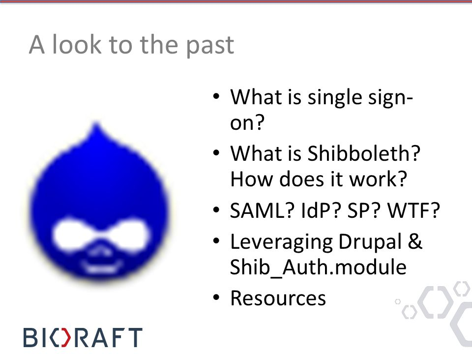 A look to the past What is single sign- on.What is Shibboleth.