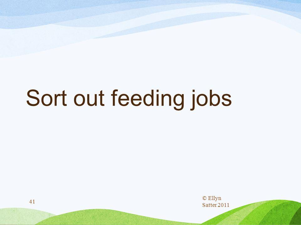 Sort out feeding jobs © Ellyn Satter 2011 41