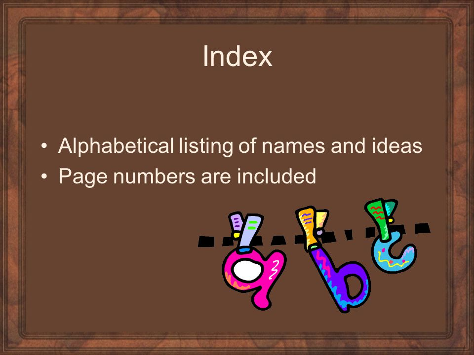 Index Alphabetical listing of names and ideas Page numbers are included