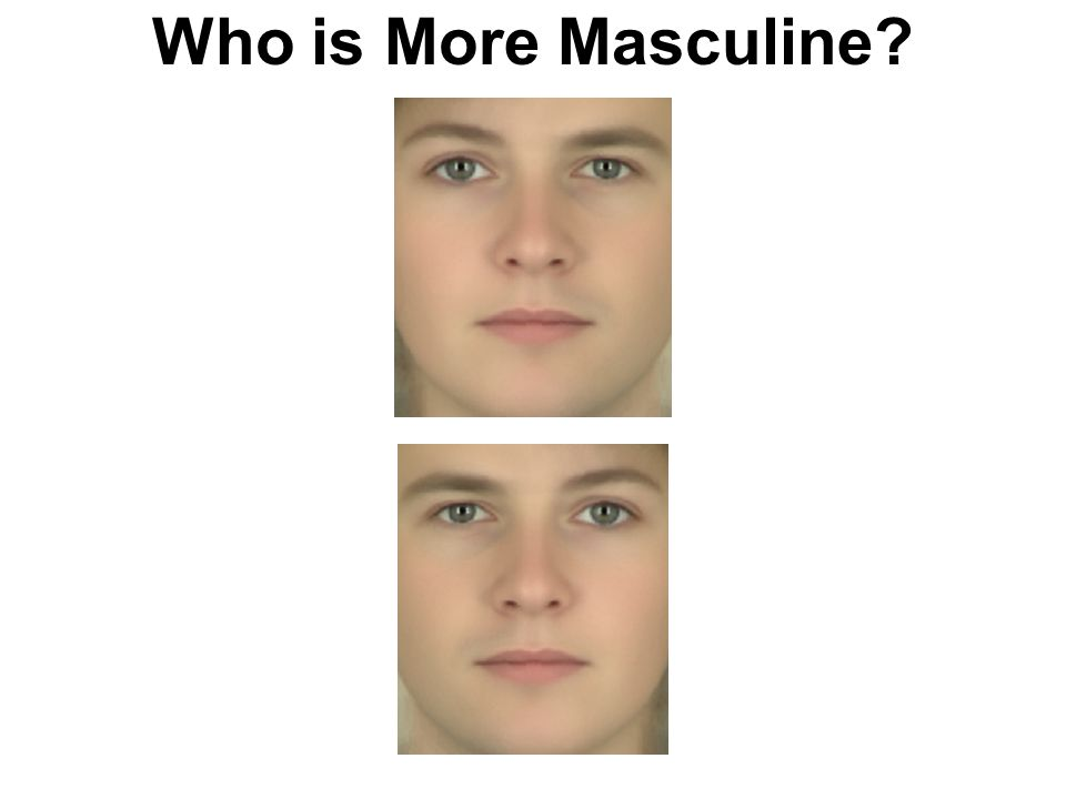 Who is More Masculine?