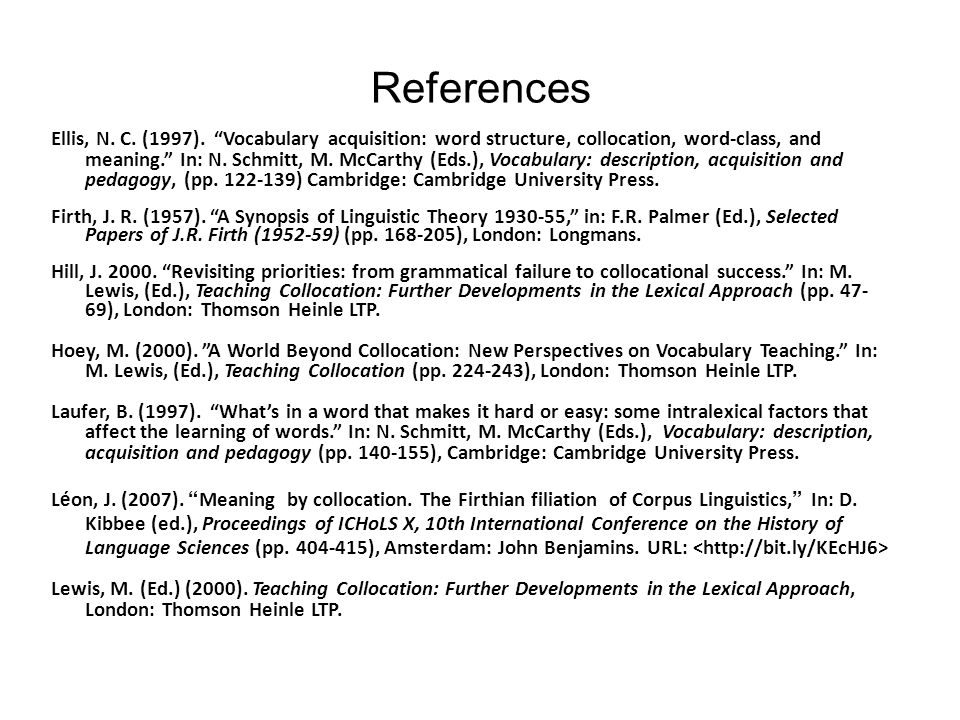 References Ellis, N. C. (1997).