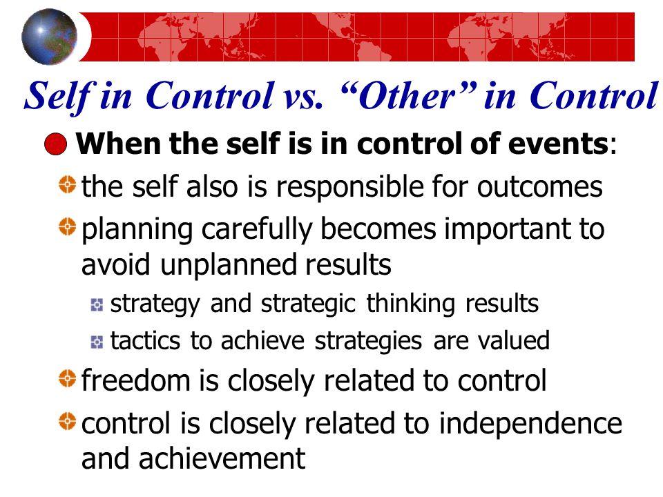 Self in Control vs.