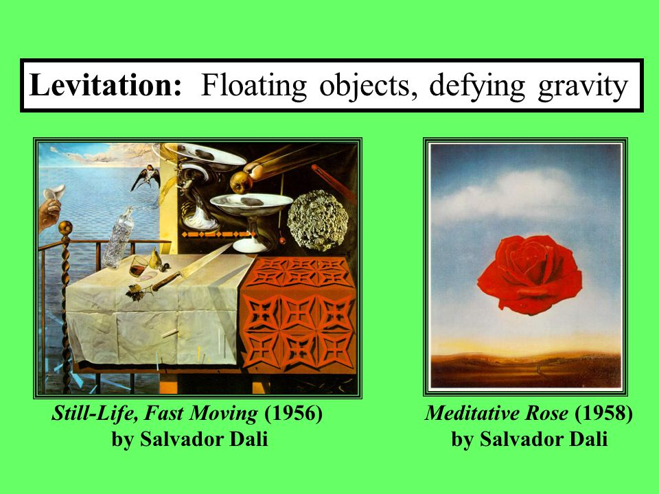  Salvador Dali was part of an artistic movement called Surrealism.