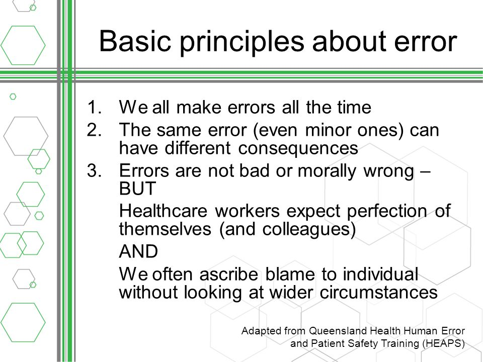 Summary Making errors is an inevitable part of the human condition - it's how we're built.