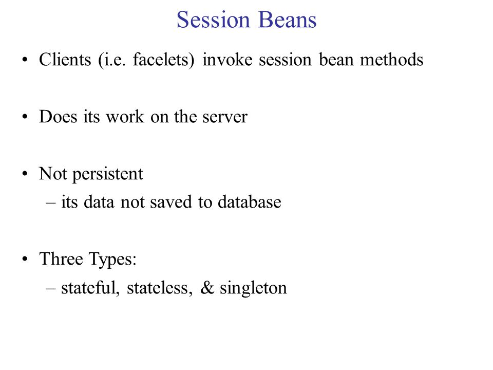 Session Beans Clients (i.e.