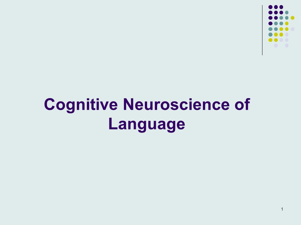 Cognitive Neuroscience of Language 1