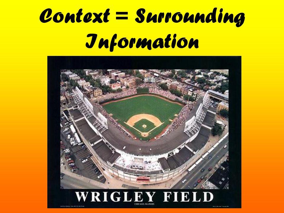 Context = Surrounding Information