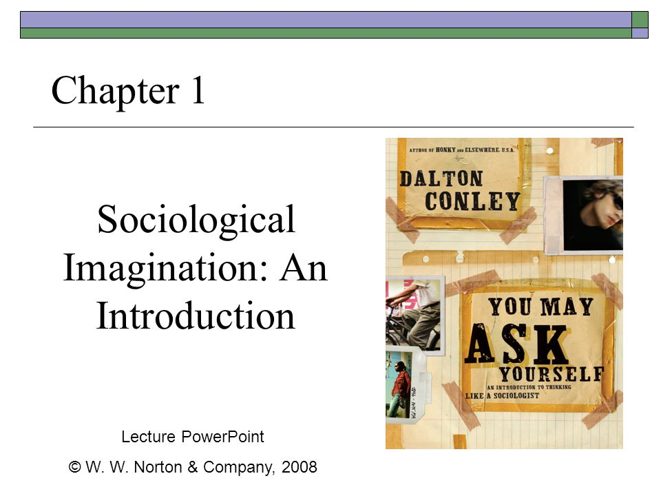 Sociological Imagination: An Introduction Chapter 1 Lecture PowerPoint © W. W. Norton & Company, 2008
